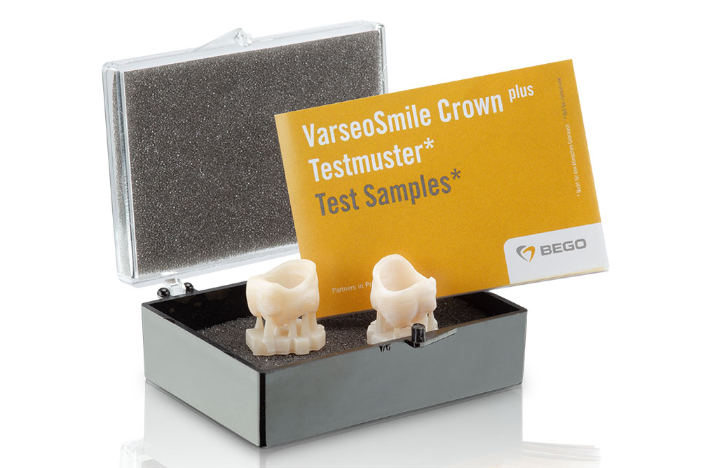 Interested parties will now receive one-time two free VarseoSmile Crown plus sample crowns with supports for user-side finishing.
